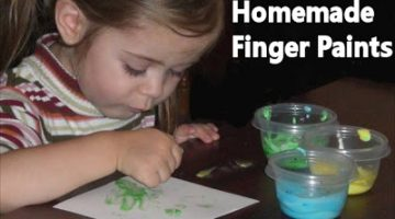 Edible Finger Paints to Make at Home