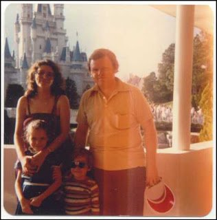 Waly Disney World, Cinderella's Castle, mom, dad, boy, girl, 1982