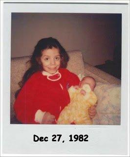 Dec, 1982. Proud big sister.