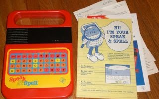 E is for… Electronic, Speak & Spell {Retro Toybox}