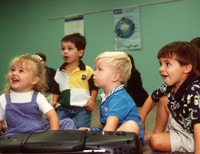 Kids enjoying Kindermusik Class.