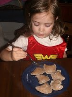 Wonder Woman likes multigrain pierogies.