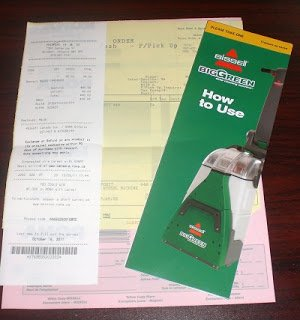 big green machine receipts - Green Machine Carpet Cleaner