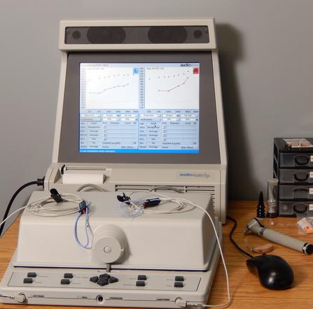 Audiologist's computer.