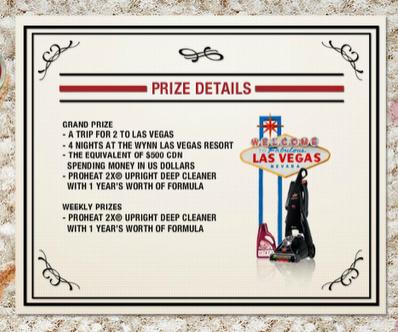 Prize details.