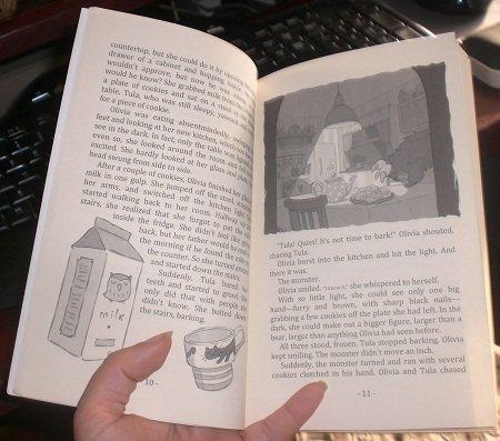Interior of children's book, My Monster Burrufu