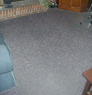 Freshly cleaned carpets.