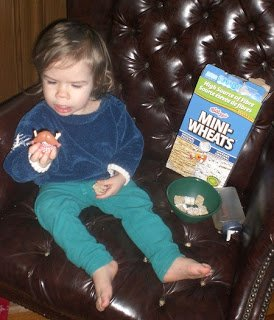 Baby-G loves her Mini Wheats