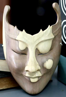 Hard-Carved Wooden Mask