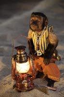 A mischievous monkey named Babi.