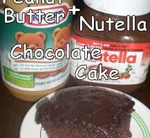 Nutella + Peanut Butter Chocolate Cake Goodness {Recipe}