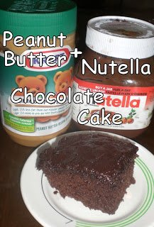 Nutella + Peanut Butter Chocolate Cake