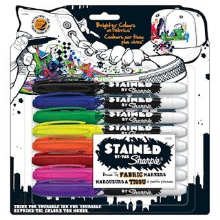 Sharpie STained fabric markers, package of 8