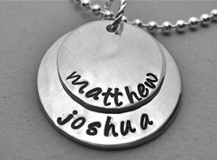 Personalized Handstamped Layered Necklace