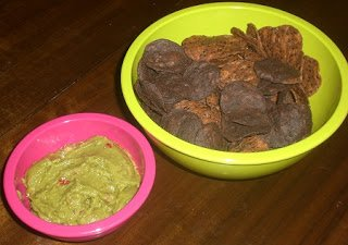 Beanitos chips go perfectly with Wholly Guacamole dip.