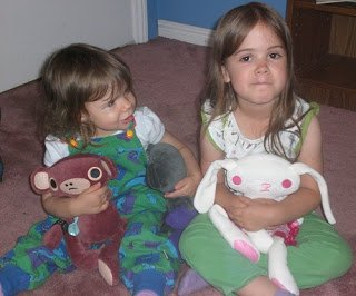 My kids with their Lilikin & Friends stuffed animals.