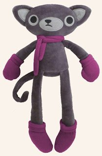 Adorable stuffed cat doll from Lilikin & Friends