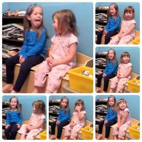 Little girls making silly faces while I'm trying to take their picture.