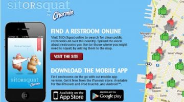 Charmin's Sit or Squat App, Must Have Tool for Moms on the Go #PGmom