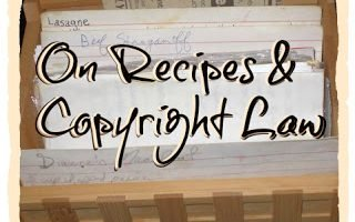 Recipe Copyright Confusion, What's the law in Canada?