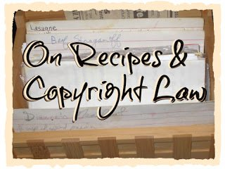 On recipes & Copyright law