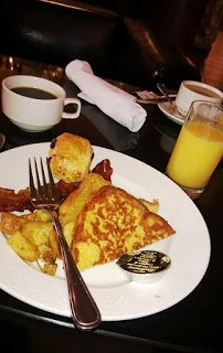 Free hotel breakfast, at The Grand Hotel & Suites Toronto.