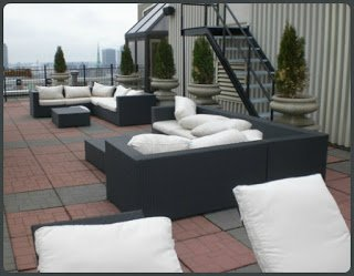 Rooftop patio at The Grand Hotel & Suites Toronto.