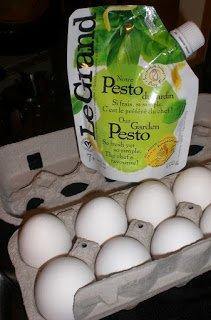 Maison Le Grand pesto and eggs.