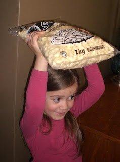 2kg bag of fresh cheese curds.