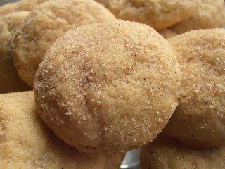 Snickerdoodle Coated Eggnog Cookies