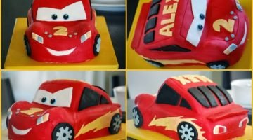 Lightning McQueen Cars Birthday Cake {Cake Magic}