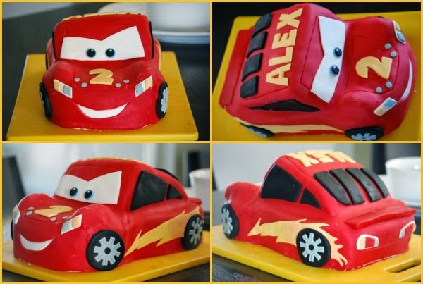 Lightning McQueen Cars Birthday Cake Cake Magic Maple Leaf Mommy