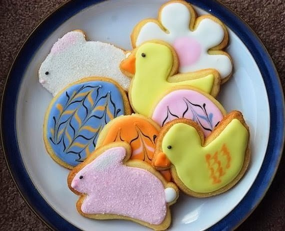 Egg and Bunny Easter Cookies