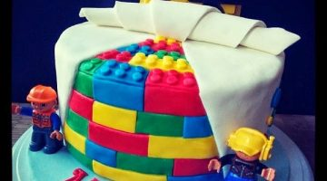 Lego Brick Cake! Everything is Awesome! {Cake Magic}