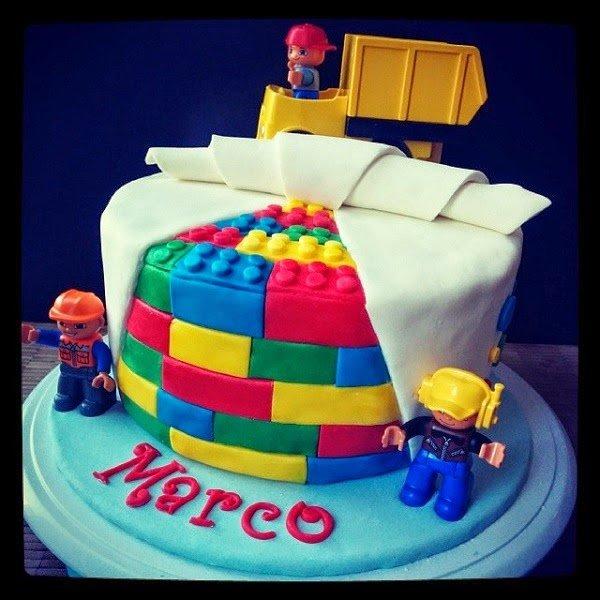 Duplo Lego Brick Birthday Cake