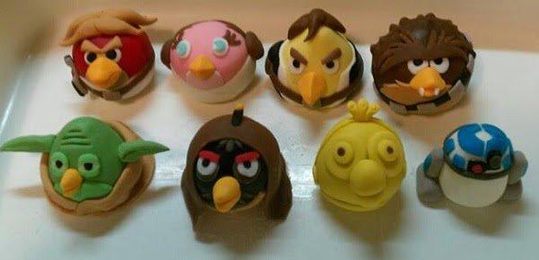Angry Birds Star Wars fondant sculptures
