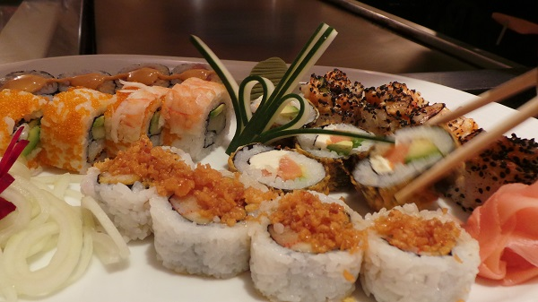 Sushi at Mikado restaurant at the Casa Magna Marriott Resort.