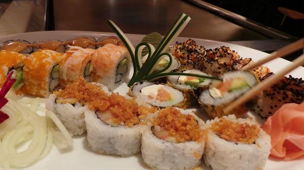 Sushi at Mikado restaurant at the Casa Magna Marriott Resort.