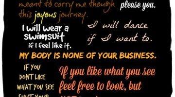 My Body Manifesto…