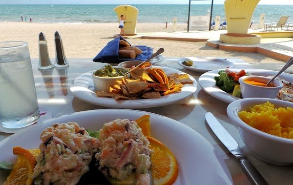 Fresh seafood, lunch at Marriott Resort Puerto Vallarta, Mexico
