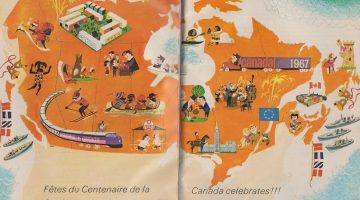 Vintage Cartoon Map of Canada, celebrating 100 years of Confederation in 1967 #ThrowbackThursday
