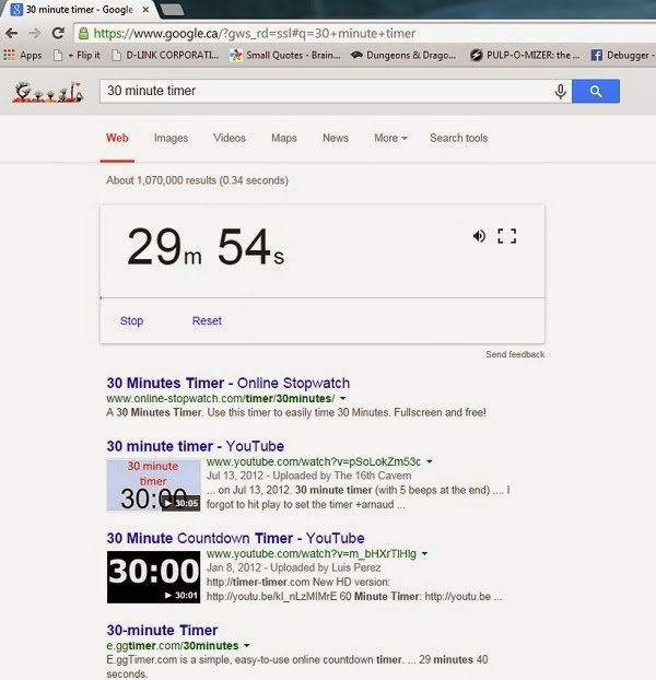 Using Google as a timer to keep mom's day going smoothly.