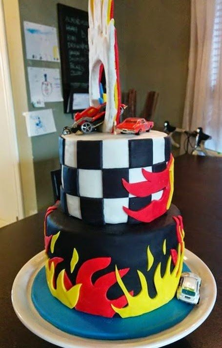 Pleasing Hot Wheels Themed Birthday Cake Ring Of Fire Cake Magic Funny Birthday Cards Online Chimdamsfinfo