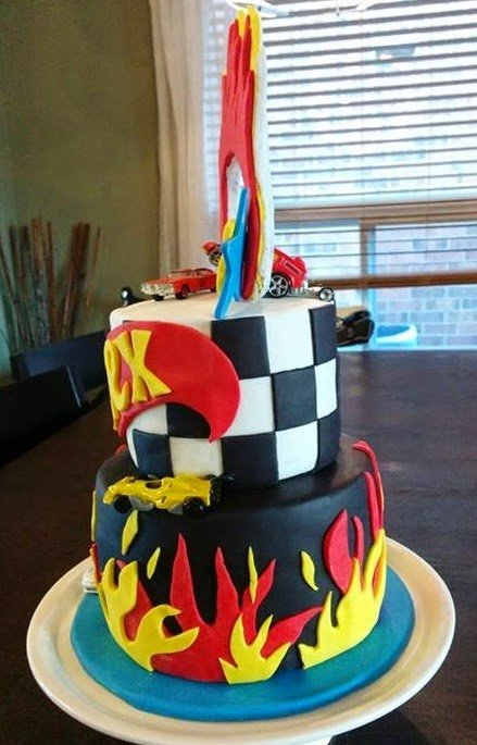 Hot Wheels Themed Birthday Cake Ring Of Fire Cake Magic