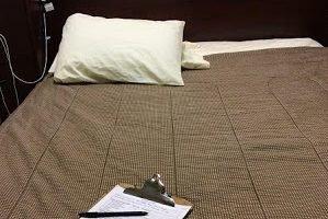 At the Sleep Clinic, an Overnight Sleep Apnea Test