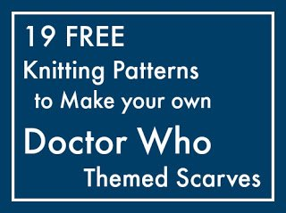 Free patterns to knit Dr Who scarf.