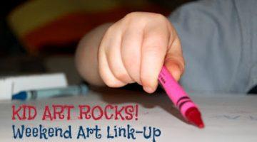#KidArtRocks Weekend Kid Art Link-Up & Giveaway