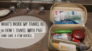 What's in my Travel Kit? a.k.a. travelling with P&G