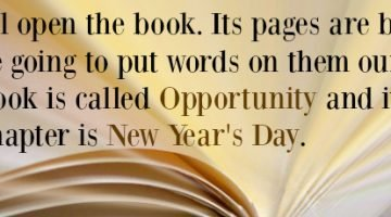 Welcome to a New Year of Opportunity…