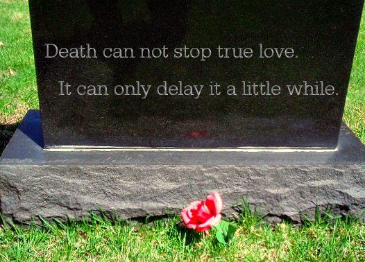 Death can not stop true love Princess Bride quote.
